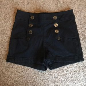Button up high waisted express shorts